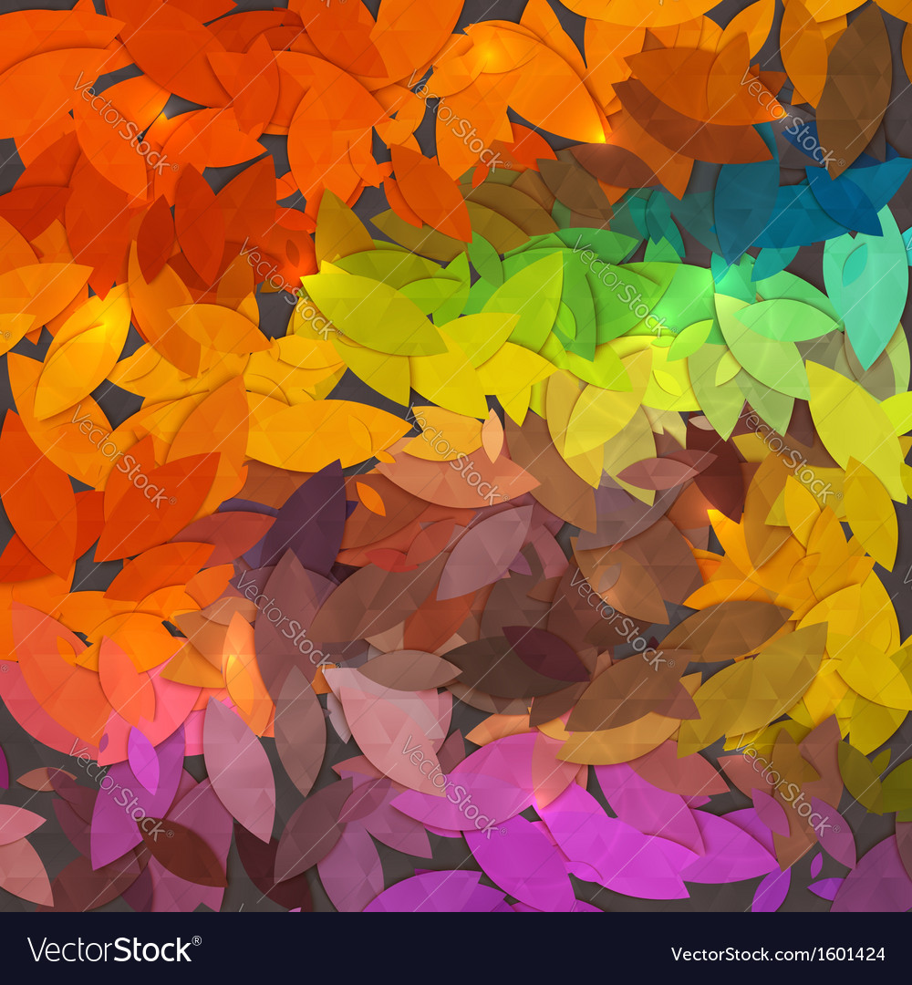 Bright abstract autumn foliage background