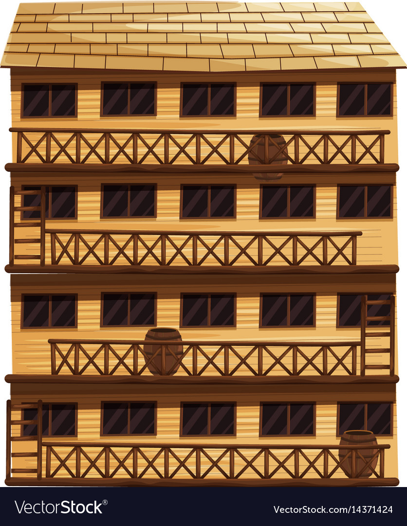 Building with four floors