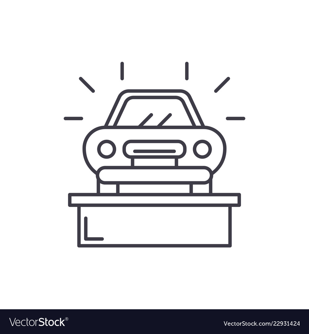 Fine Car Showroom Line Icon Concept Car Showroom Download Free Architecture Designs Scobabritishbridgeorg