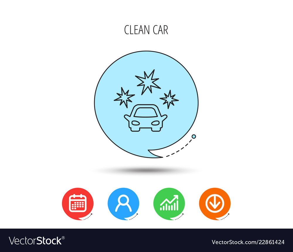 Clean car icon cleaning wash station sign