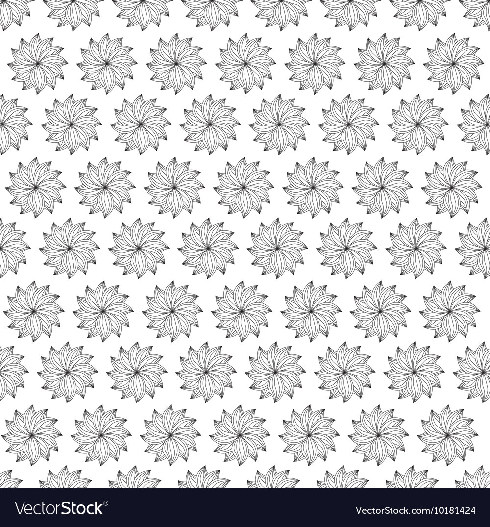 Flower Garden Background Con Graphic Royalty Free Vector