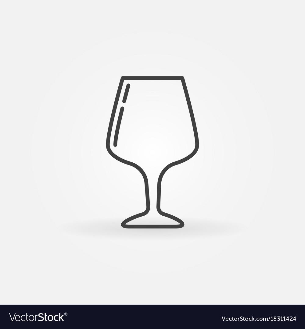 Glass thin line icon