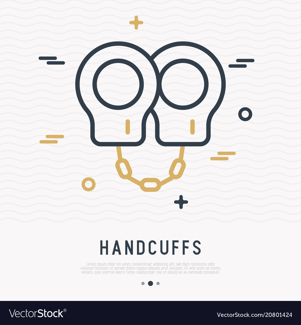 Handcuffs thin line icon