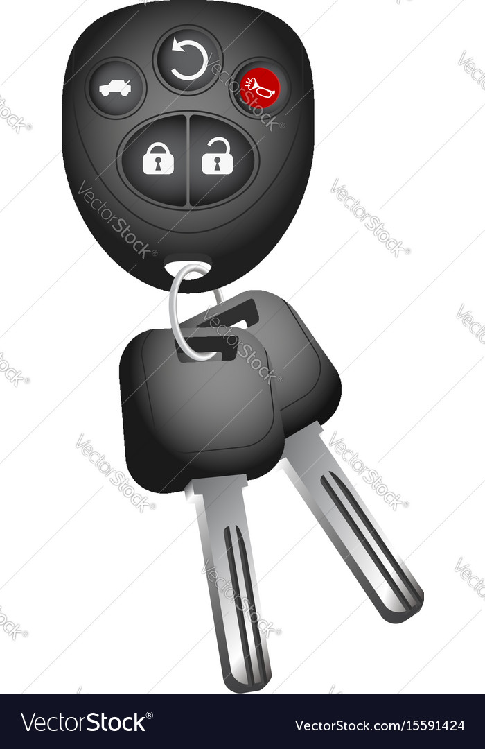 Key and key ring to the car