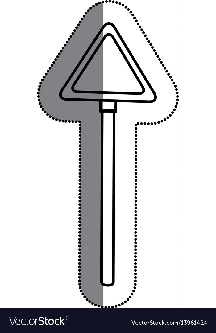Road traffic triangle signal icon vector image