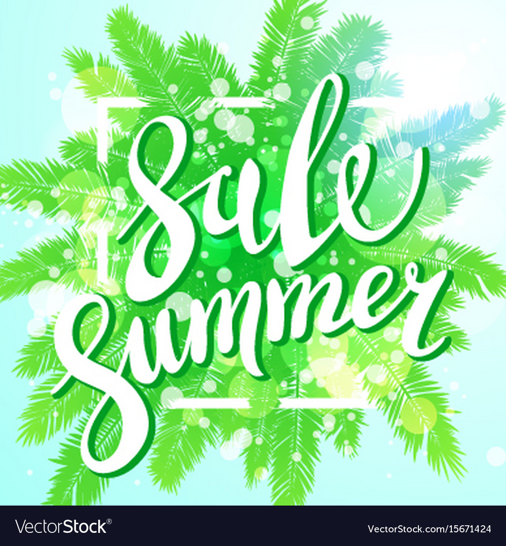 Sunset on the beach summer sale background with