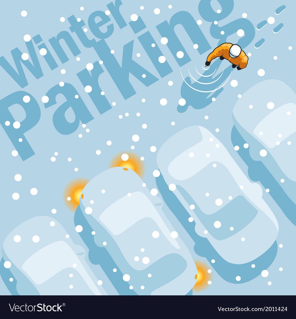 Winter Parking vector image