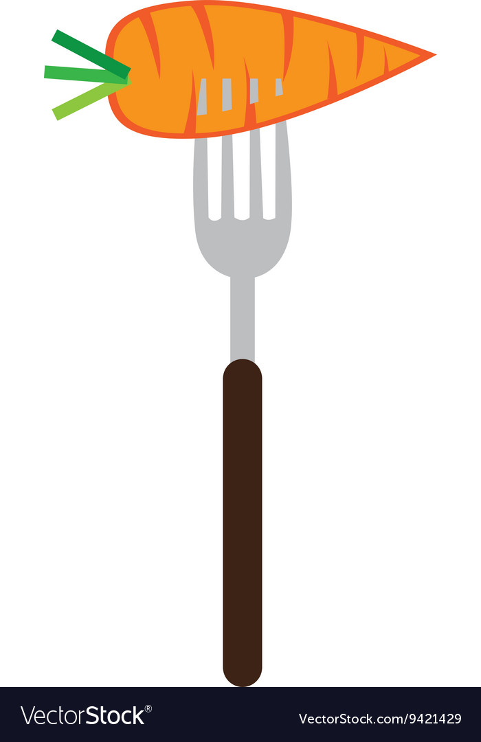 Carrot on a fork graphic