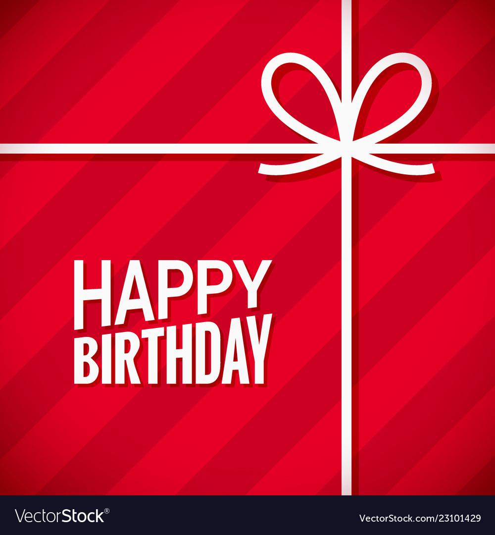 Happy birthday card birthday gift box background