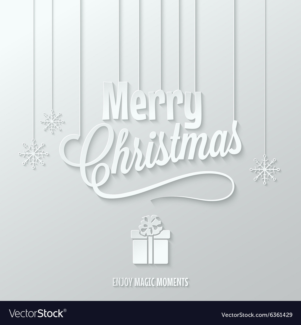Merry christmas paper cut background