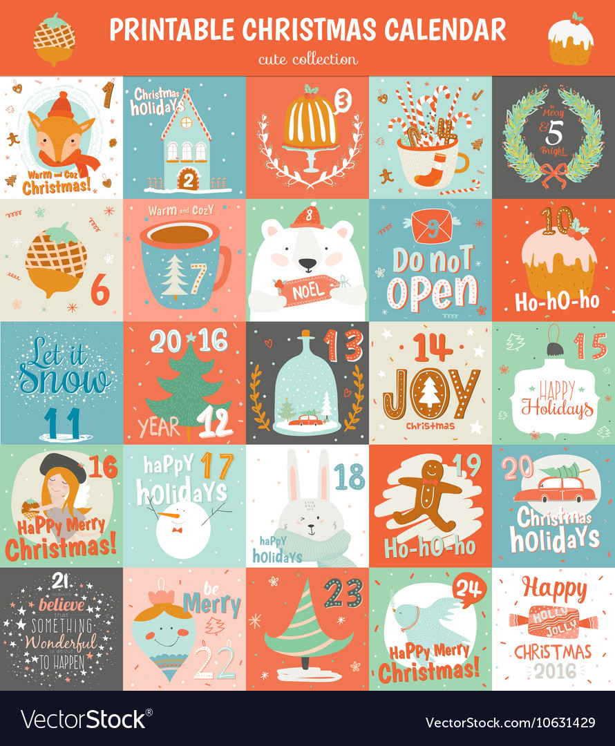 image about Advent Calendar Printable identify Printable arrival calendar within