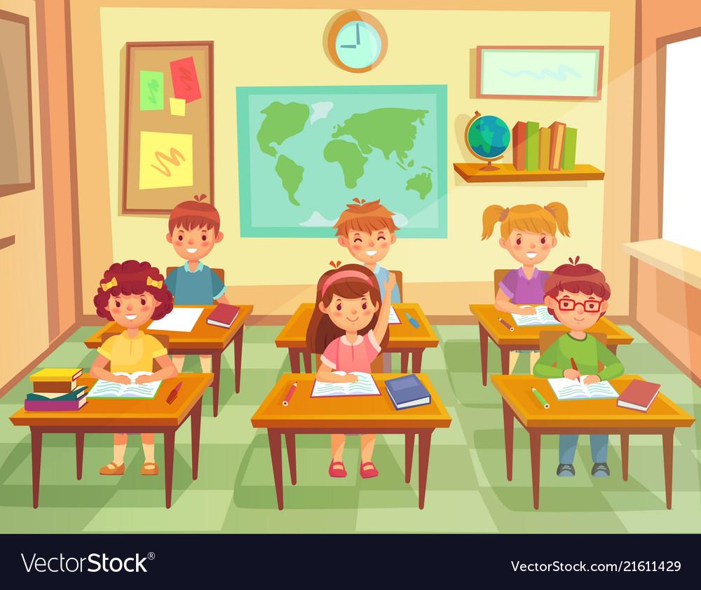 Pupil kids at classroom primary school children