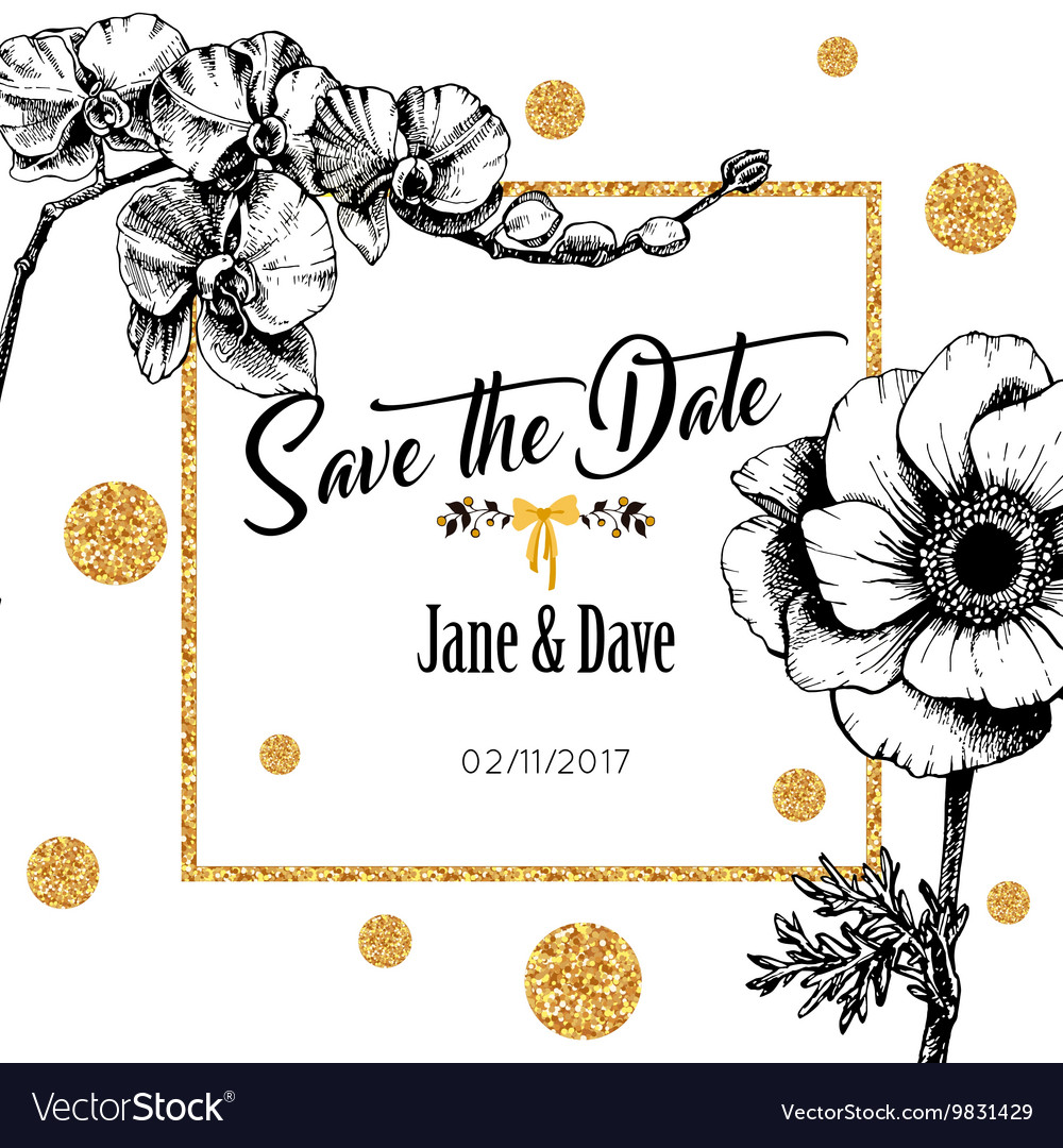 Save date card template for anniversary