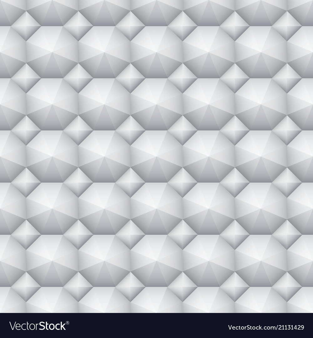 Seamless soft white 3d pattern geometric vector image