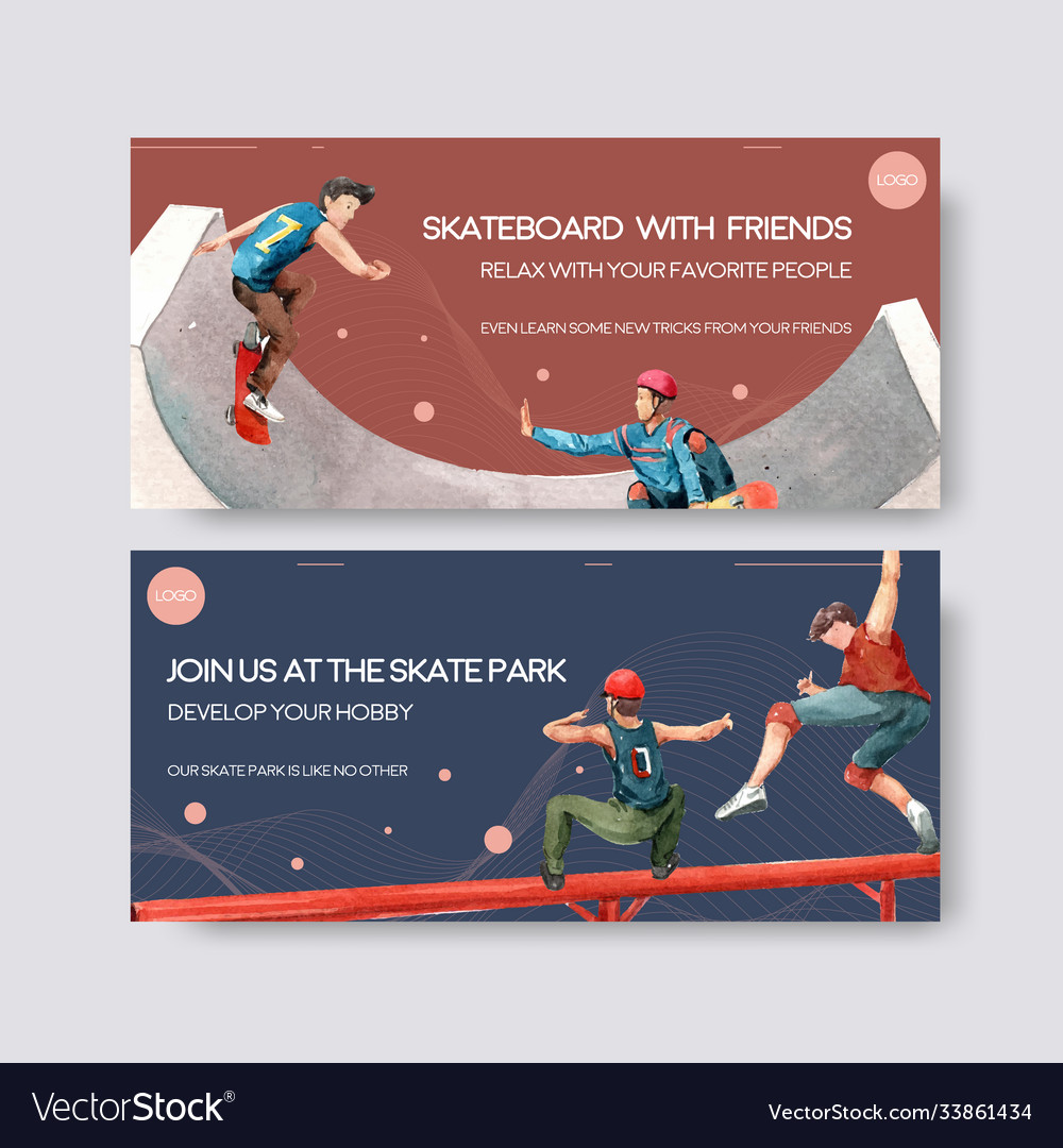 Billboard template with skateboard design concept