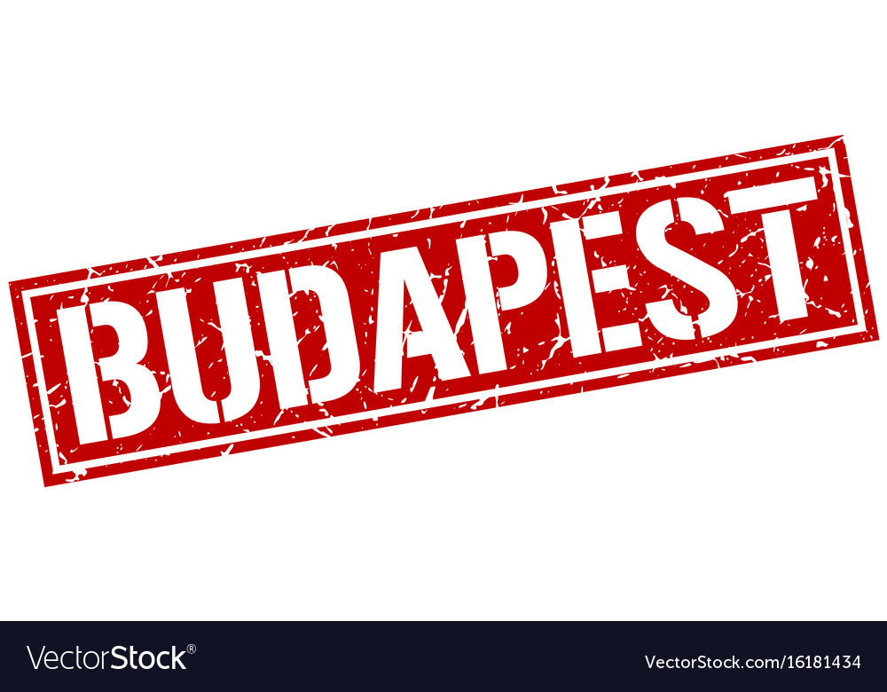 Budapest red square stamp vector image on VectorStock
