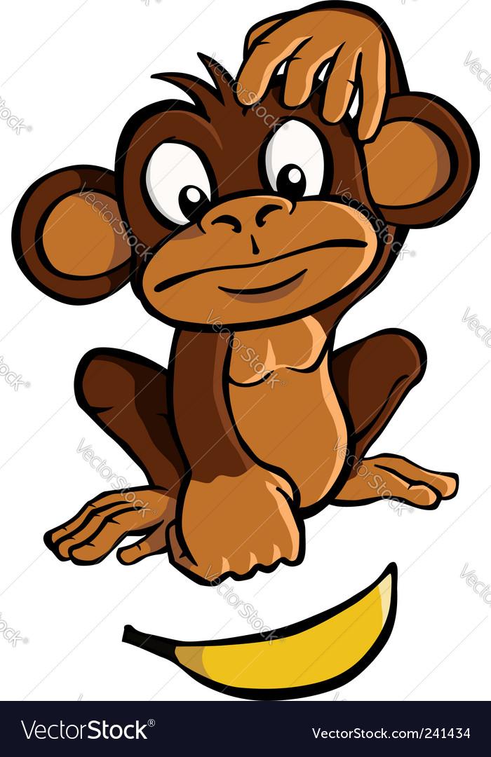 Cartoon monkey vector image