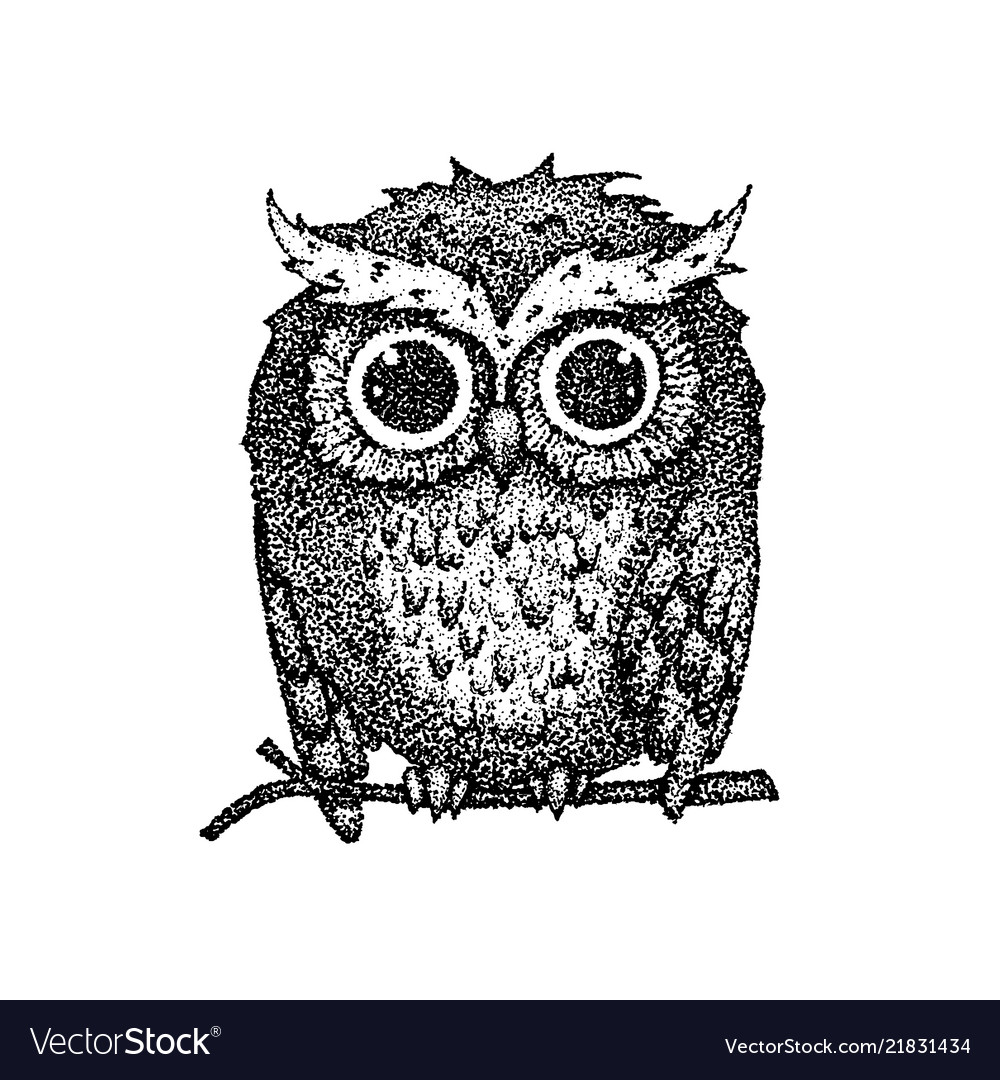 Dotwork cute owl