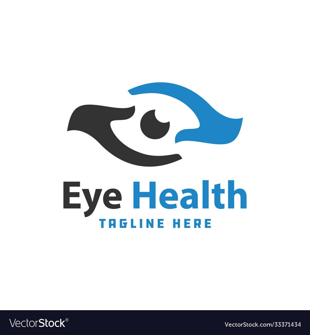 Eye health modern logo