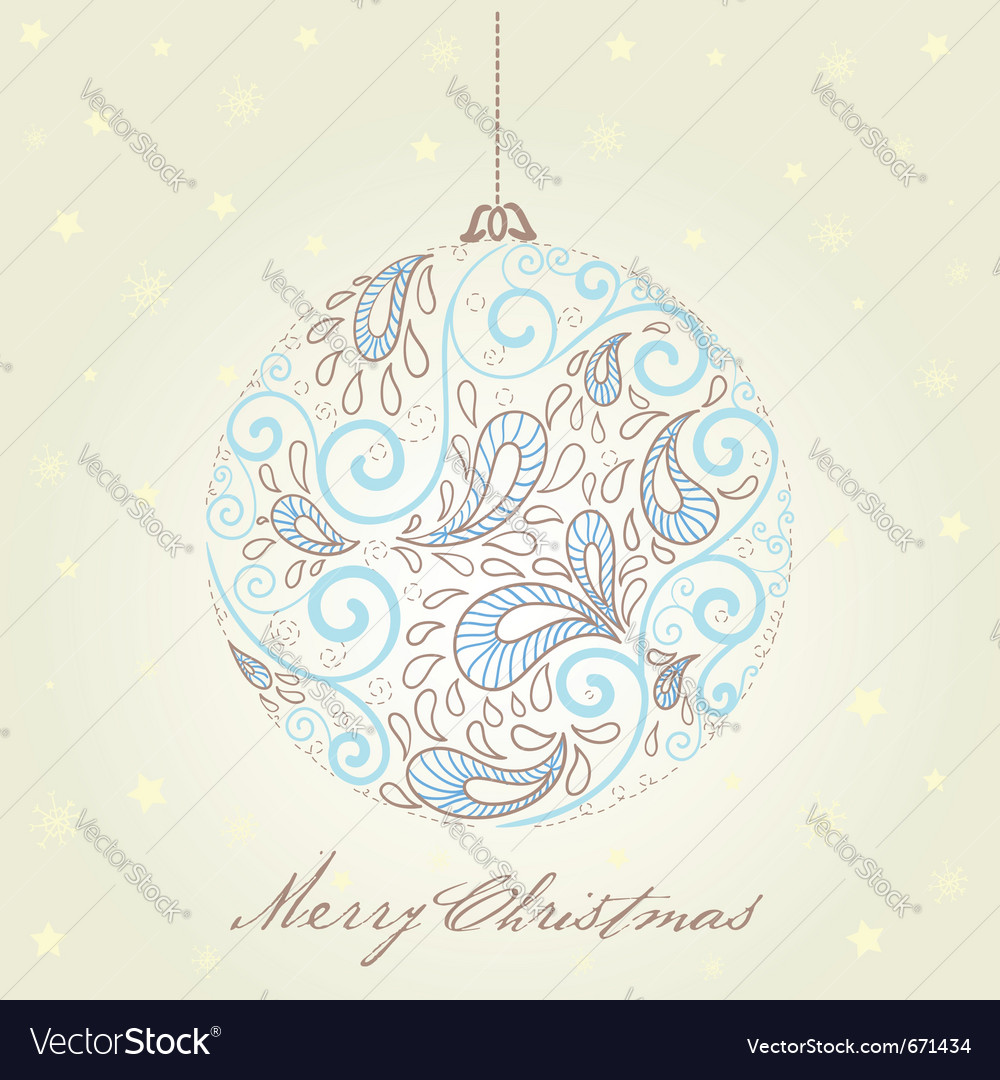 Fantasy christmas ball vector image