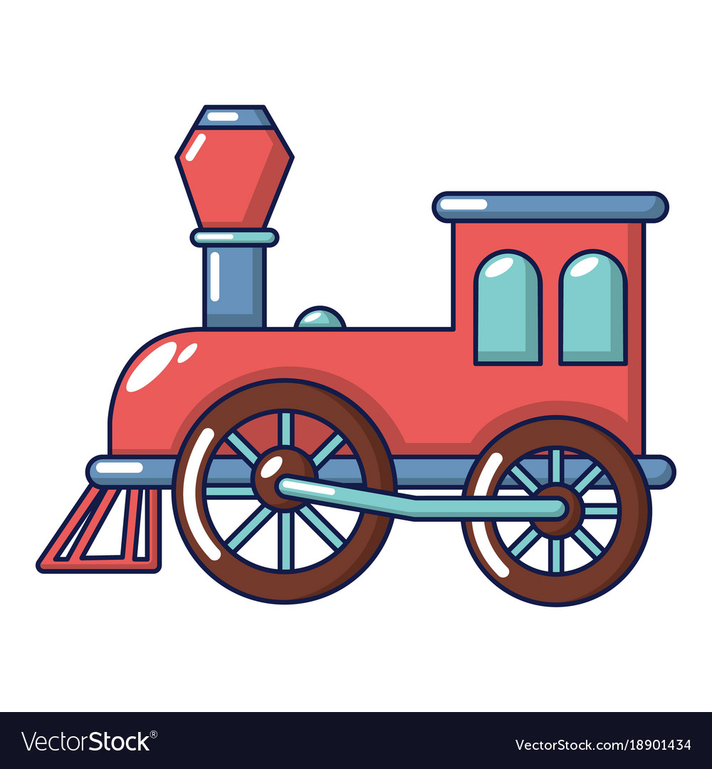 old train icon cartoon style royalty free vector image