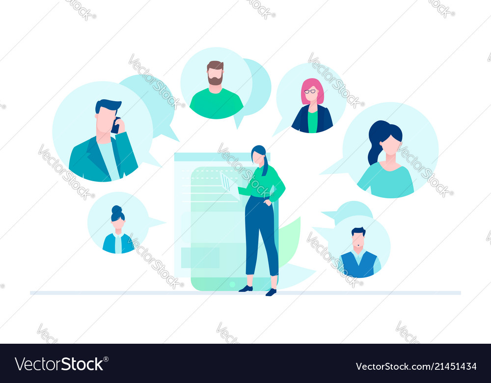 Online meeting - flat design style