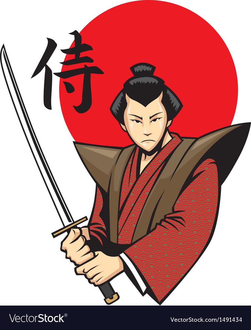 Samurai with the sword