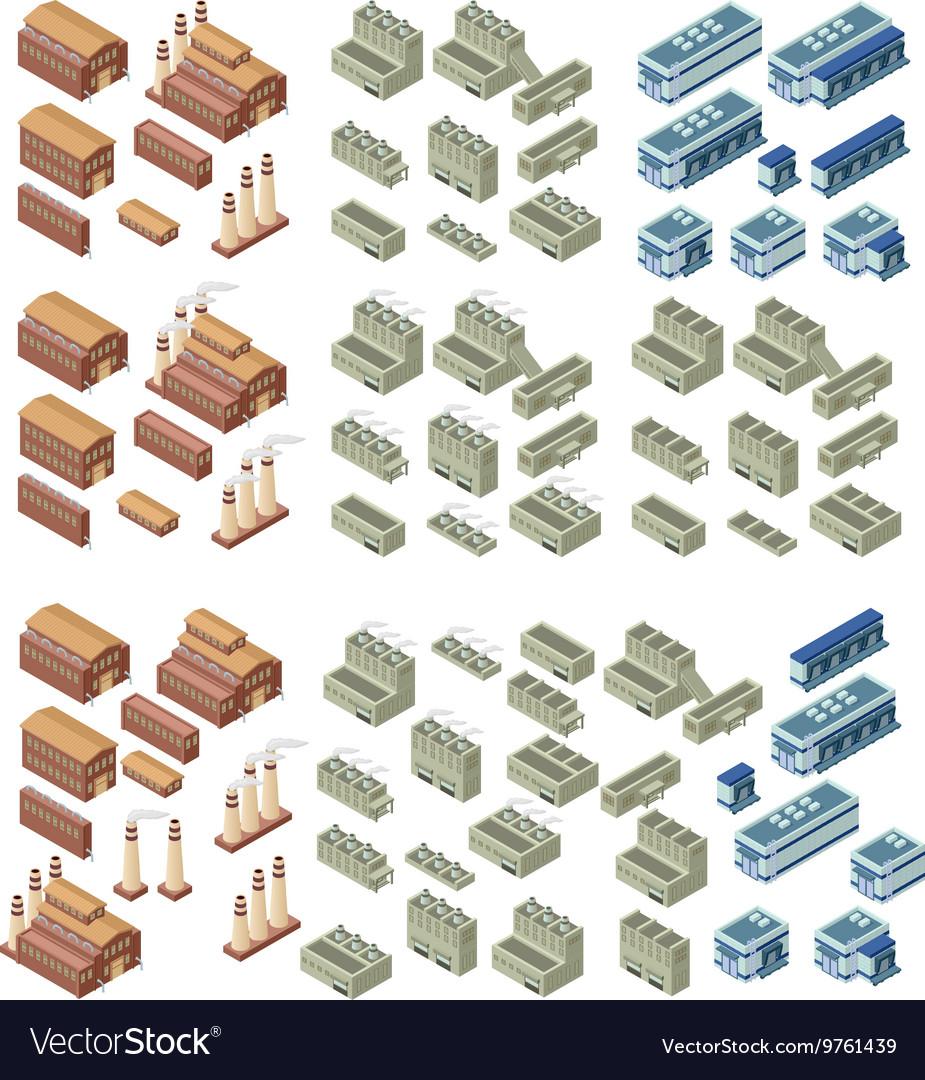 3d buildings set