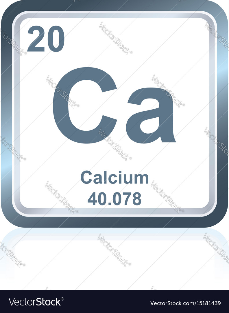 Chemical Element Calcium From The Periodic Table Vector Image