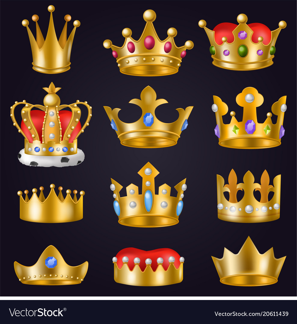 Crown golden royal jewelry symbol of king