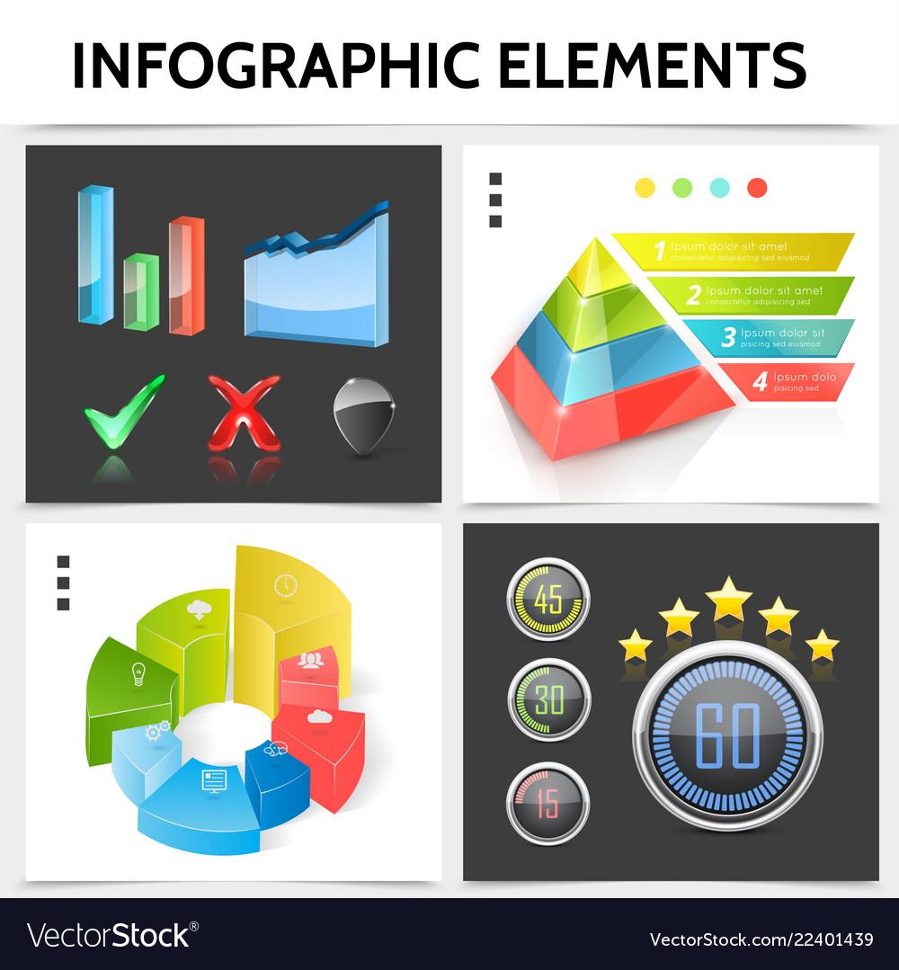 Realistic infographic square concept