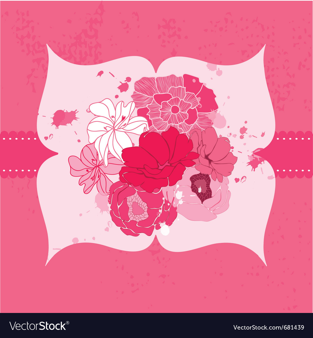 Romantic Flower Card Royalty Free Vector Image