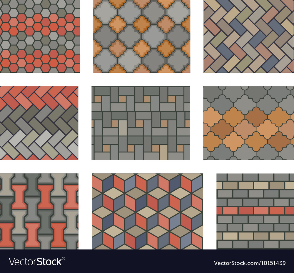Pavement Set Royalty Free Vector Image