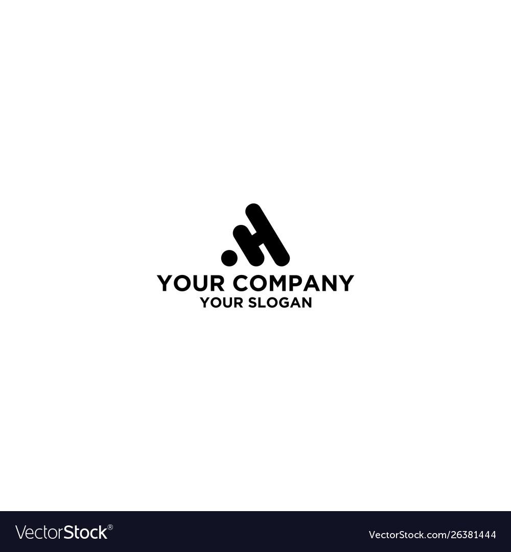 Black ah logo design