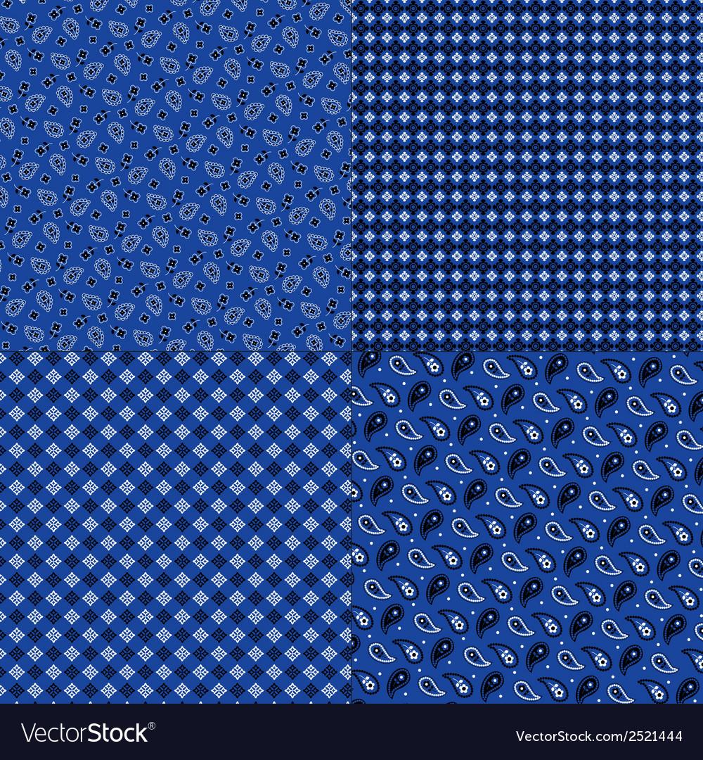 Blue bandana patterns