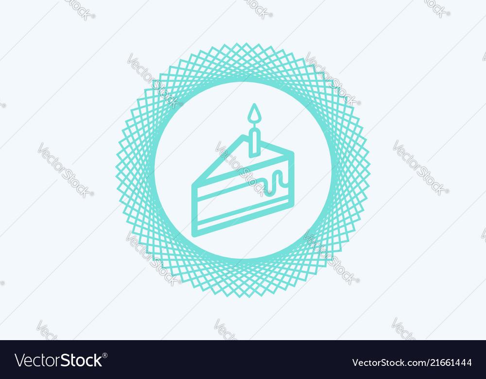 Cake icon sign symbol