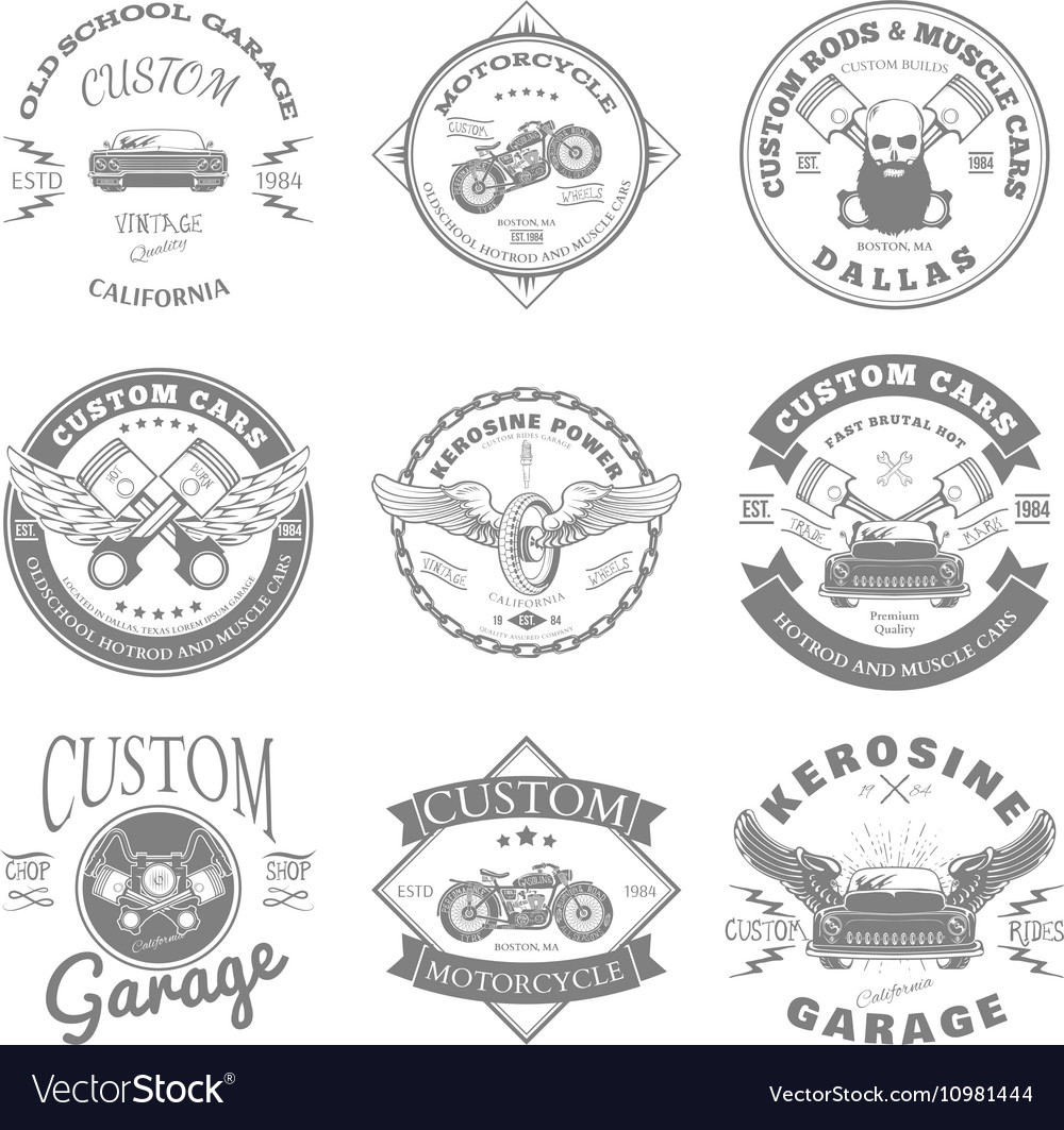 Custom Garage Label and Badges Design