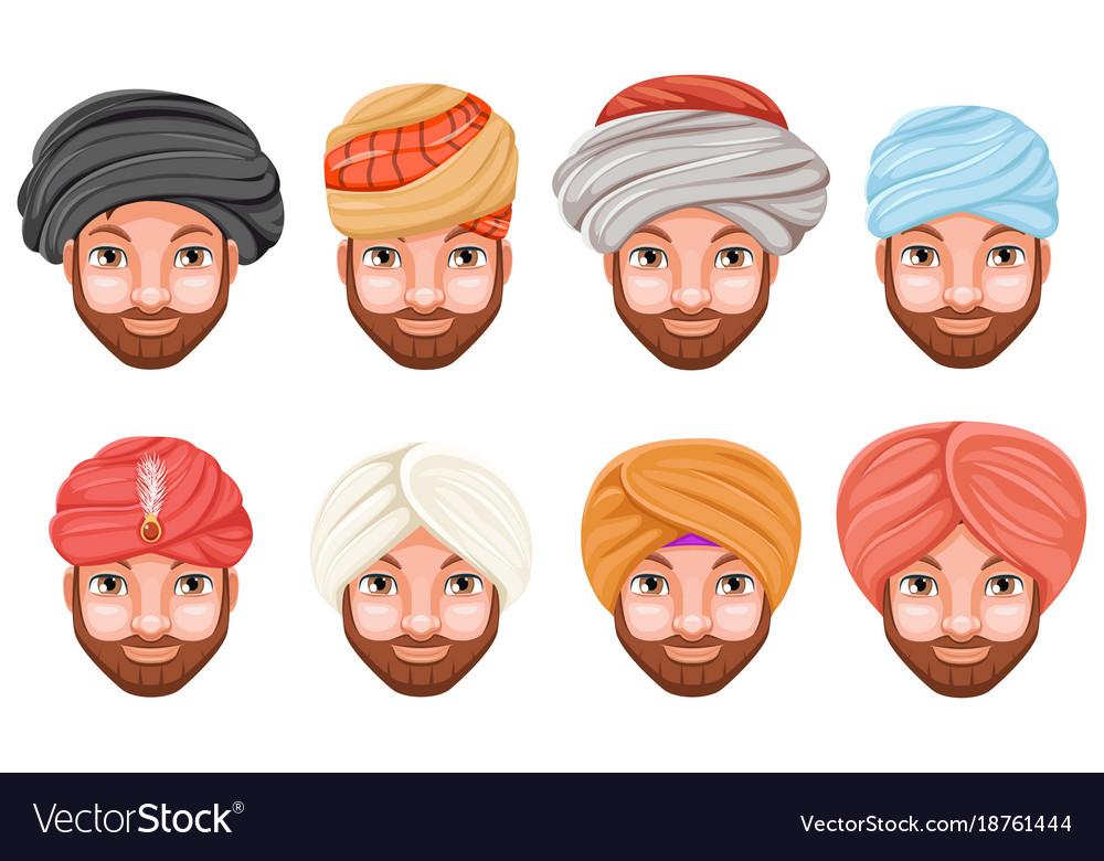 Fashion turban headdress arab indian culture sikh