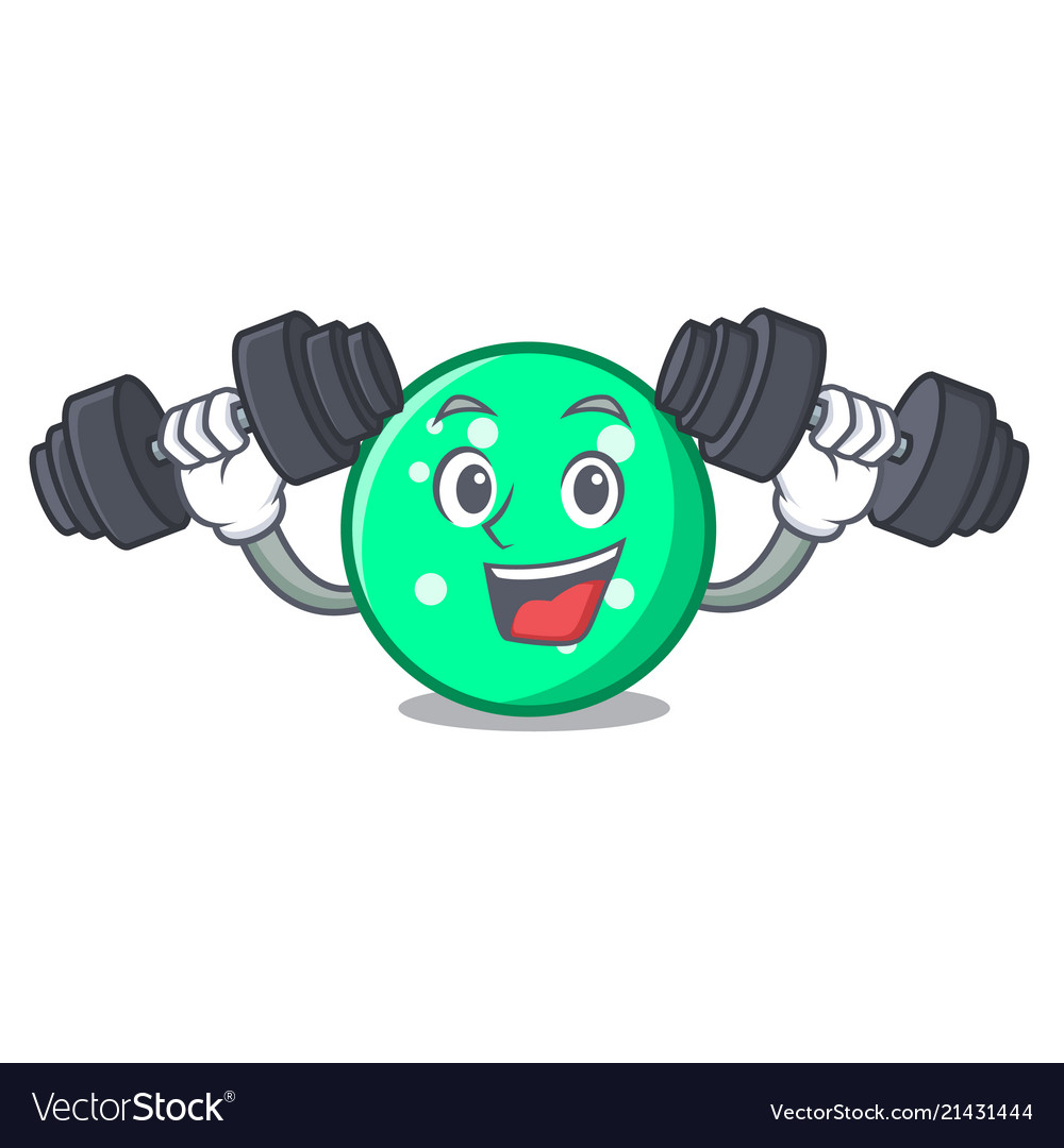 Fitness circle character cartoon style