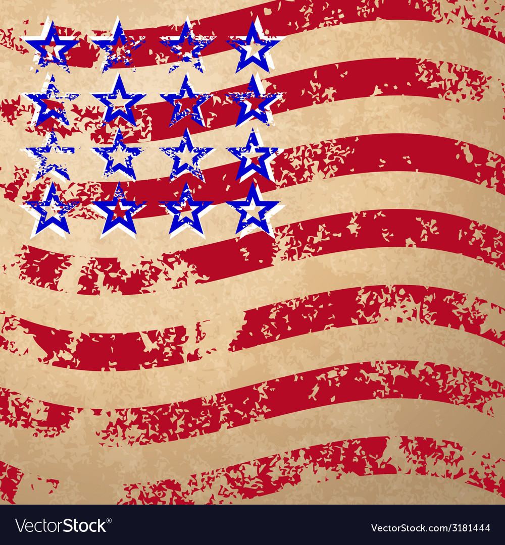 Grunge striped flag