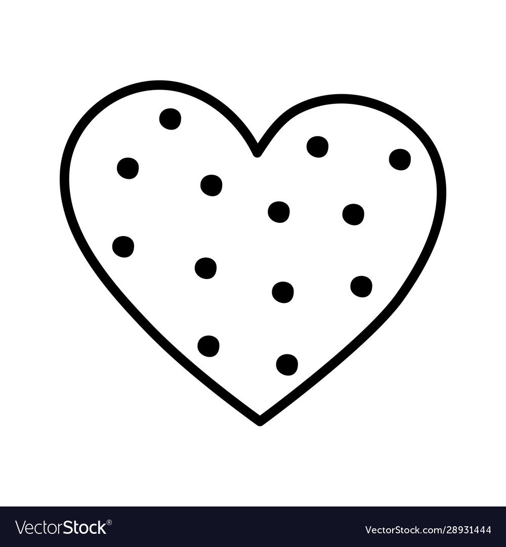 Happy valentines day pink dotted heart romantic