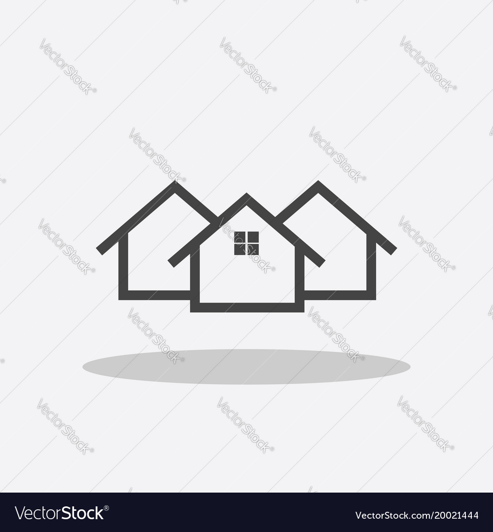 Home icon house flat
