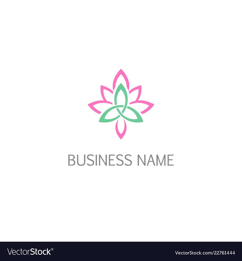 Lotus flower beauty logo