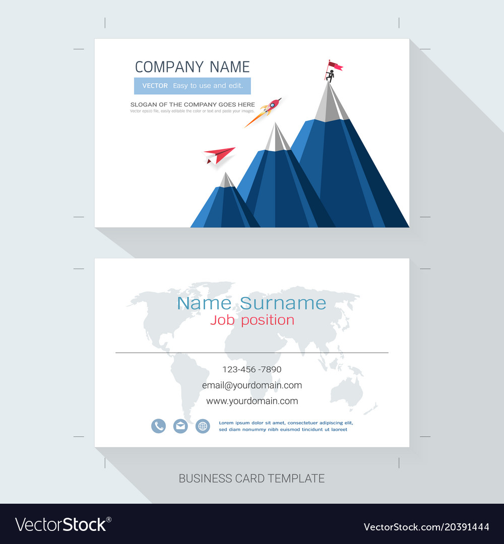 Startup business card or name card template Vector Image