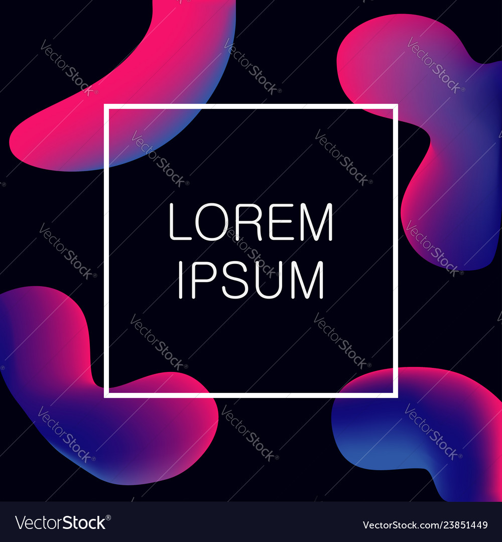 Abstract fluid colors shapes modern background