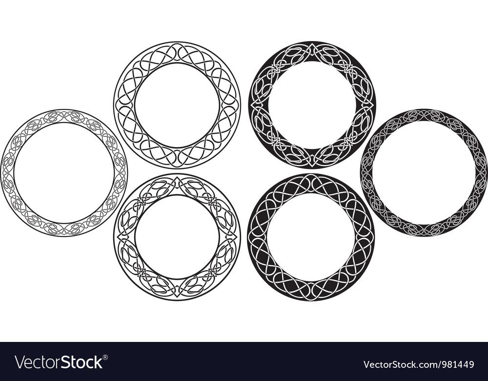 Celtic circle vector image