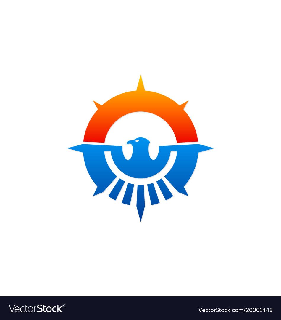 Eagle abstract emblem icon logo