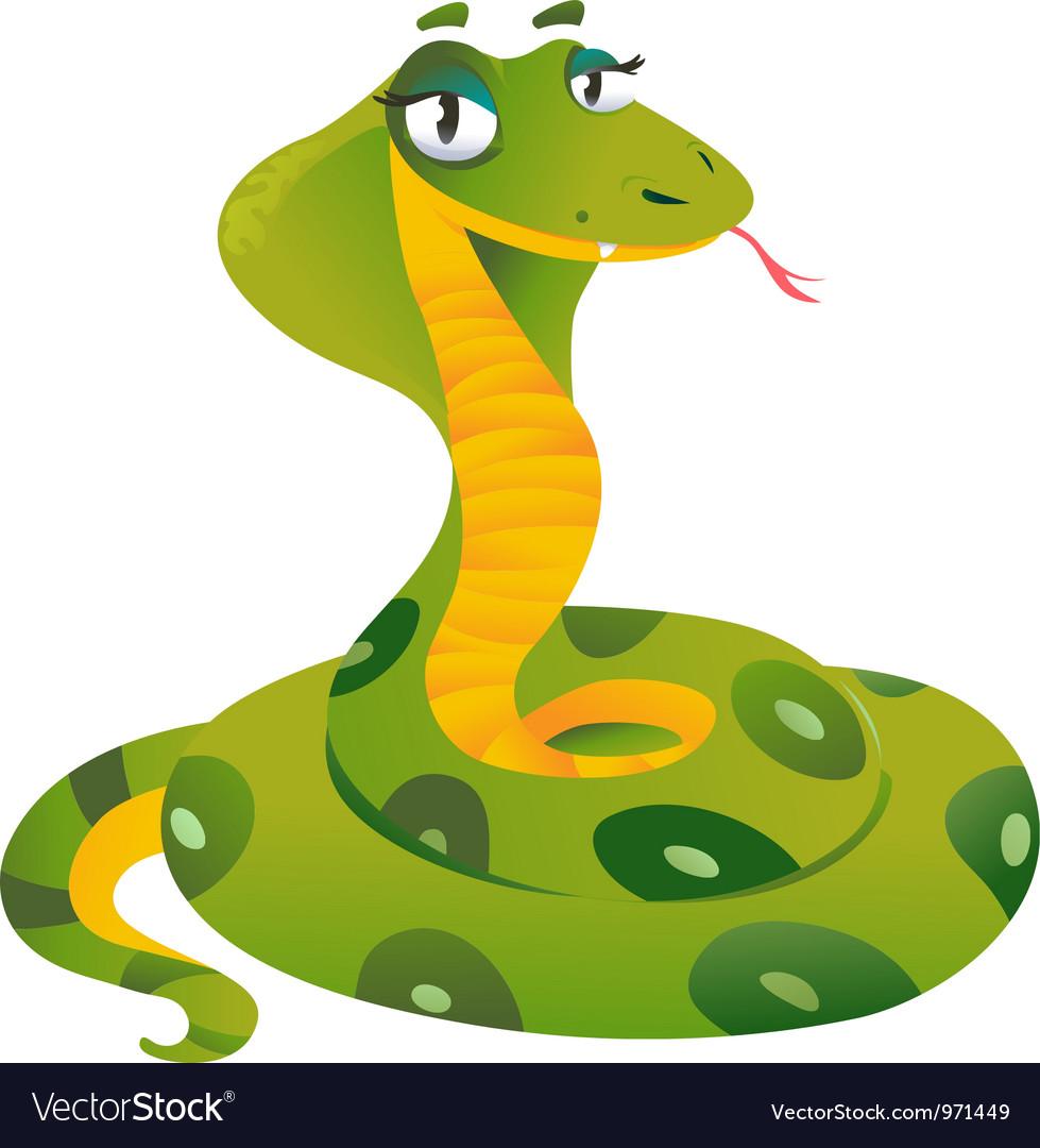 Happy snake vector image