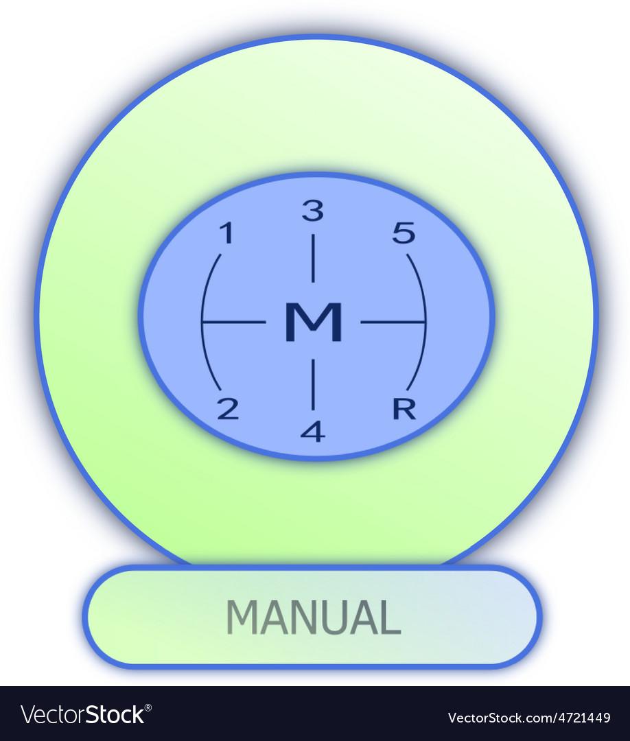 Icons and symbols of car parts - Manual gear box Vector Image