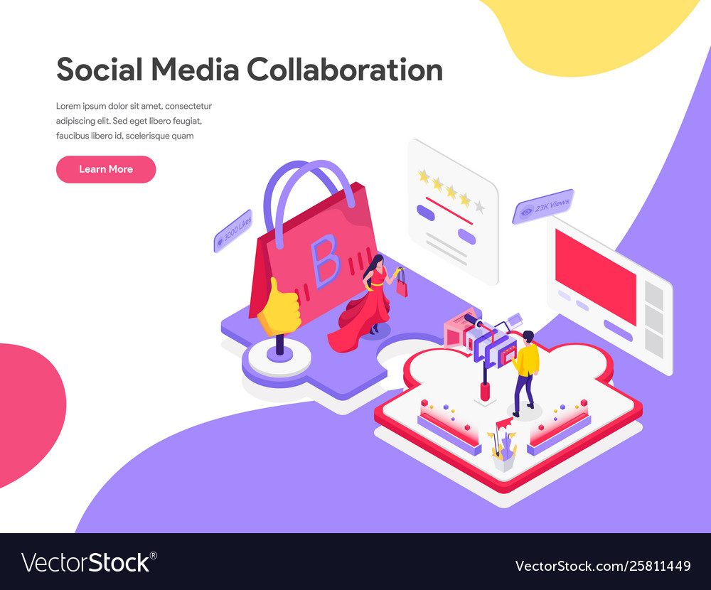 Landing page template social media